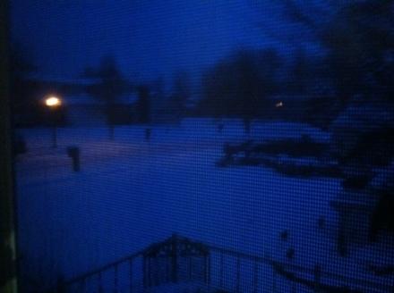 Wordless Wednesday – Snow!:)